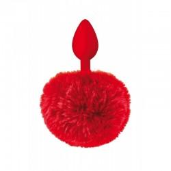 Plug Pompon Conejo Rojo